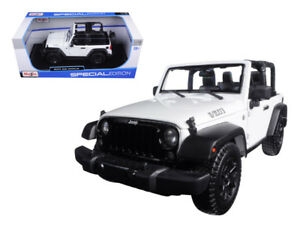 Maisto 2014 Jeep Wrangler No Top Diecast Vehicle 1 18 Scale Ebay