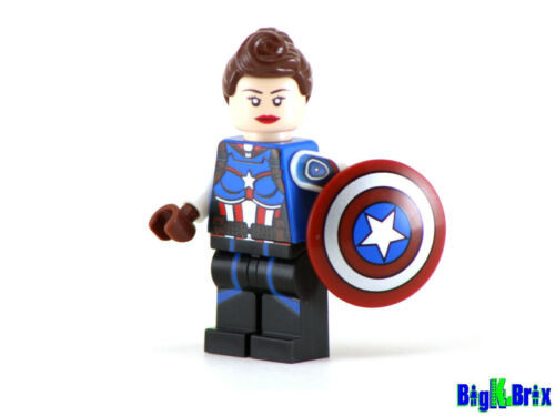 CAPTAIN AMERICA PEGGY CARTER Custom Printed on Lego Minifigure!