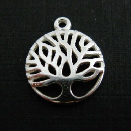 Sterling Silver Tree Charm Pendant 12mm
