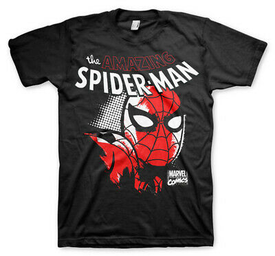 The Amazing Spiderman Marvel Comics Official Tee T-Shirt Mens
