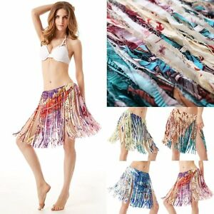 Summer-Tassel-Wrap-Sarong-Bikini-Fringe-Swimwear-Skirt-Beach-Cover-Up-Dress-Hot