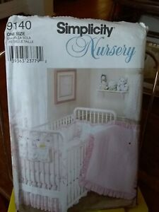 Oop-Simplicity-Nursery-9140-quilt-bumpers-diaper-stacker-linens-NEW