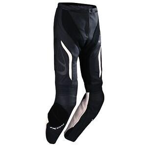 Ixon-Prima-VX-Ladies-Leather-Motorcycle-Pants-Black-White-Size-2XL