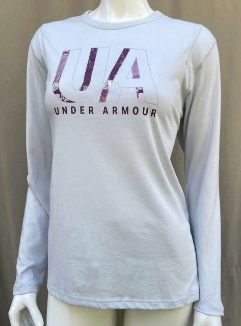 NWT UNDER ARMOUR HERO BREAST CANCER SHIRT FITTED BLACK WOMENS SMALL