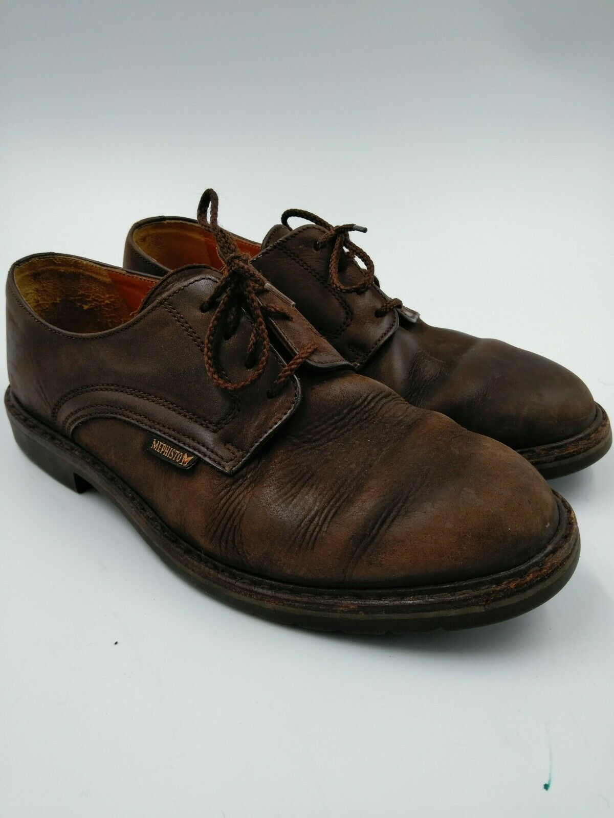 MEPHISTO GOODYEAR WELT AIR RELAX MEN'S BRN. LEATHER SHOES size 8 made in france