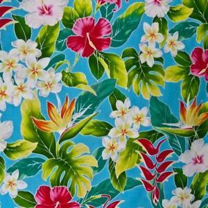 Hawaiian-Print-Pua-Kokio-Palekaiko-amp-Melia-on-Capri-Blue-BTHY-or-BTY