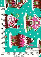 Gingerbread Houses Christmas Fabric F966 Michael Miller BY THE HALF YARD