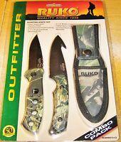 Ruko Camouflage Hunting Knife Set Rcombo10-cs With Sheath
