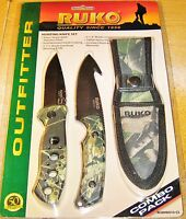 Ruko Camouflage Hunting Knife Set Rcombo10-cs With Sheath