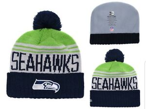 49332d130 Details about 2018 Seattle Seahawks New Era NFL Knit Hat On Field Sideline  Beanie Hat