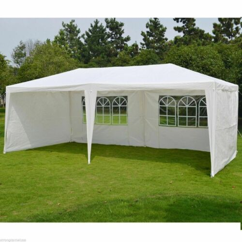 NEW Waterproof Outdoor Garden PE Gazebo Marquee Canopy Party Tent With Side
