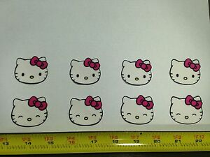 8pc hello kitty heads faces fabric applique iron on ebay