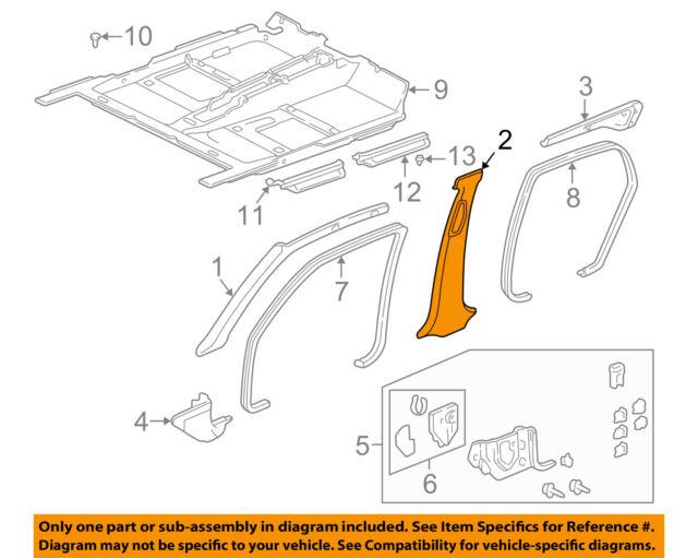 84133-SDN-A00ZB Pillar Cap Genuine Honda