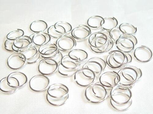 pcs 10gms x Silver Plated Jump Rings:10mm diameter 65