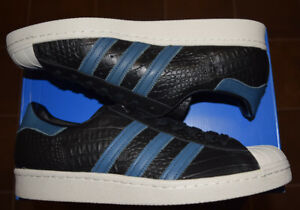 big sale b1d0e a827e Image is loading Men-039-s-Adidas-Crocodile-Superstar-80s-Leather-