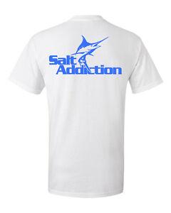 Salt Addiction Saltwater fishing t shirt,Shark ocean,fish life reel rod tackle