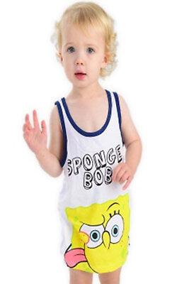 Sponge bob  2Pack Sleeveless Body for Babies Sizes From 98//104 110//116 122//128