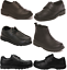 Boys Black School Shoes PU Leather Hook /& Loop Lace Up Dress Formal UK Sizes 6-6