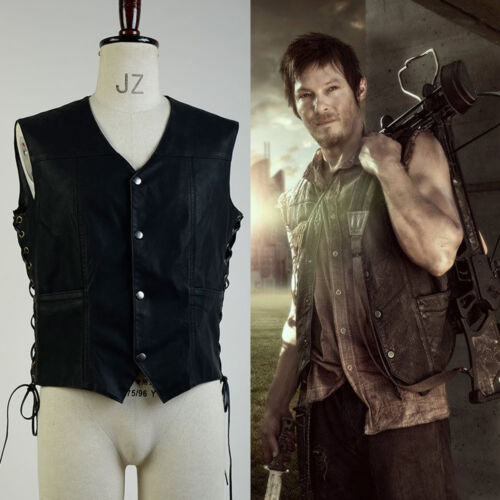 The Walking Dead Norman Reedus Daryl Dixon Vest Costume Cosplay Outfit Wing Suit