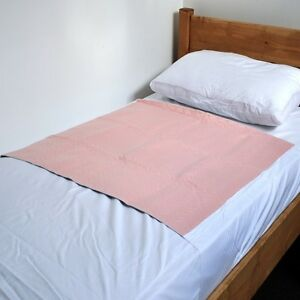 Economy-Washable-Bed-Pad-with-Flaps-PINK-85-x-90cms-33-x-35-exc-tucks