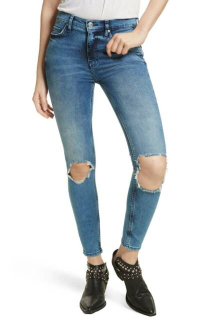 dfff556da97 People We The Women s Sz 25 High Waist Ankle SKINNY Jeans Distressed. +.   49.99Brand New. Free Shipping