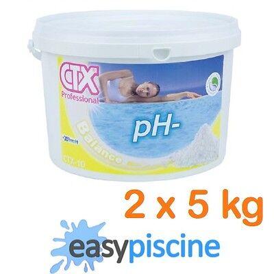 pH- MOINS/MINUS GRANULÉS (POUDRE) CTX-10 ASTRAL-POOL POUR PISCINE/SPA, 2 x 5 KG