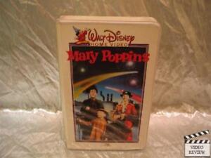 6969154967 Mary Poppins VHS Julie Andrews Dick Van Dyke Walt Disney White Cover ...
