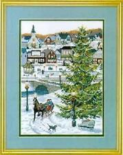 """Christmas Village Cross Stitch Kit - 14 count - 10 in x 14 """""""