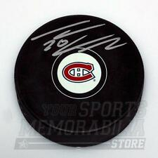 Thomas Vanek Montreal Canadiens Signed Autographed Canadiens Hockey Puck