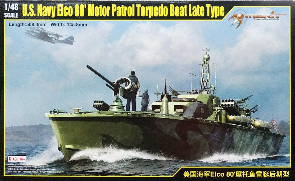 64801 Trumpeter 1 48 Model USN Elco 80' Motor Partol Torpedo Boat Late Type