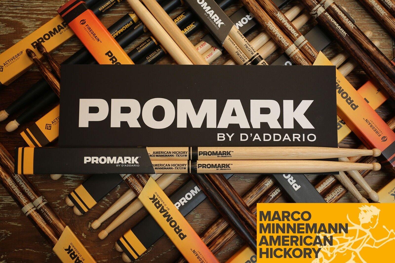 Markierung Hickory 721 Marco Minnemann Holz Tip Schlagzeug Ziegel von 6