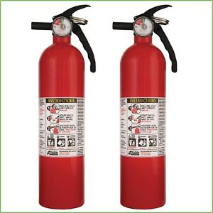 KIDDE FIRE EXTINGUISHER Value 1-A:10-B:C Garage Office Home Boat Auto Car 2 Pack