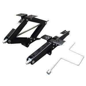 Set-of-Two-5000-lb-24-034-RV-Trailer-Stabilizer-Leveling-Scissor-Jacks-w-handle