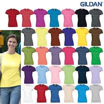1a2dca882bc068 Details about Gildan Softstyle Women's Ringspun T-Shirt 64000L