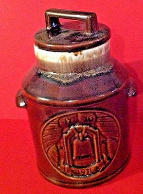 Chocolate Brown McCoy Figural Cookie Jar Milk Can