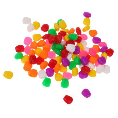 100x Künstliche Maisköder für Süß /& Salzwasser Angeln jede Farbe 10 Stück