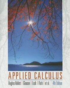 Solution manual applied calculus 4th edition hughes-hallett test.