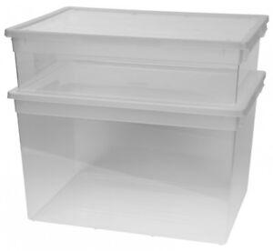 2 X Xxl Aufbewahrungsbox Sammelbox Klarsichtbox Regalbox Lagerbox