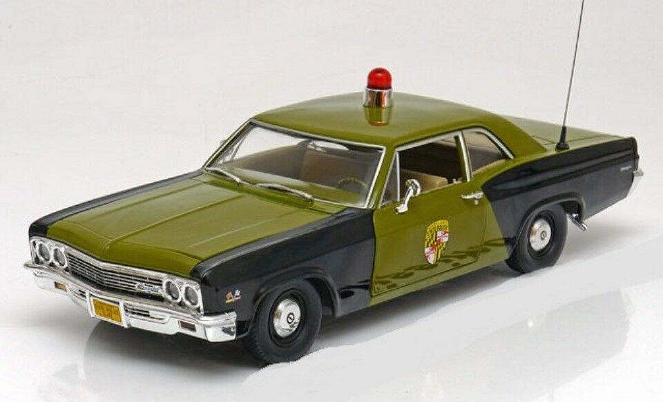 CHEVROLET CHEVY BISCAYNE MARYLAND STATE POLICE 1966 1966 1966 ERTL AMM1030 1 18 1 18 6a66f4
