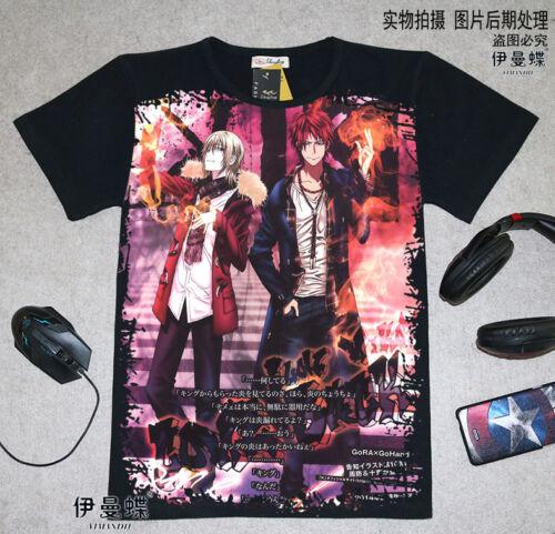 Cosplay K-project Anime Manga T-Shirt Kostüme Schwarz Polyester Neu