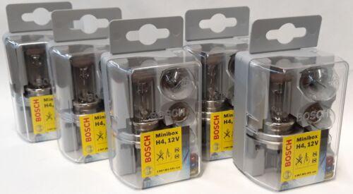 BOSCH H4 Set 5x Mini-BOX Glühlampen Sortiment  OE 1 987 301 101 Blister
