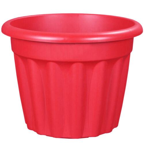 Vista Garden Flower Herb Plant Pot Colour Plastic Round Indoor Outdoor RED