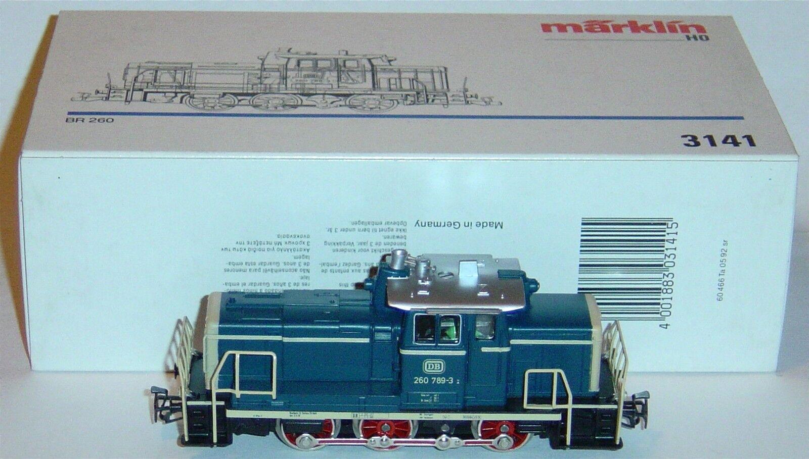 Marklin ho, diesel locomotive ref 3141 with new motor 5 pole, digitized
