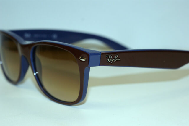 RAYBAN  SUNGLASSES  NEW  WAYFARER  2132  BROWN/BLUE 874/51 52MM ANTI GLARE NEW