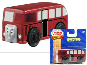 BERTIE-BUS-fits-on-Thomas-amp-friends-wooden-train-tracks-BBT41-Fisher-Price-Toy