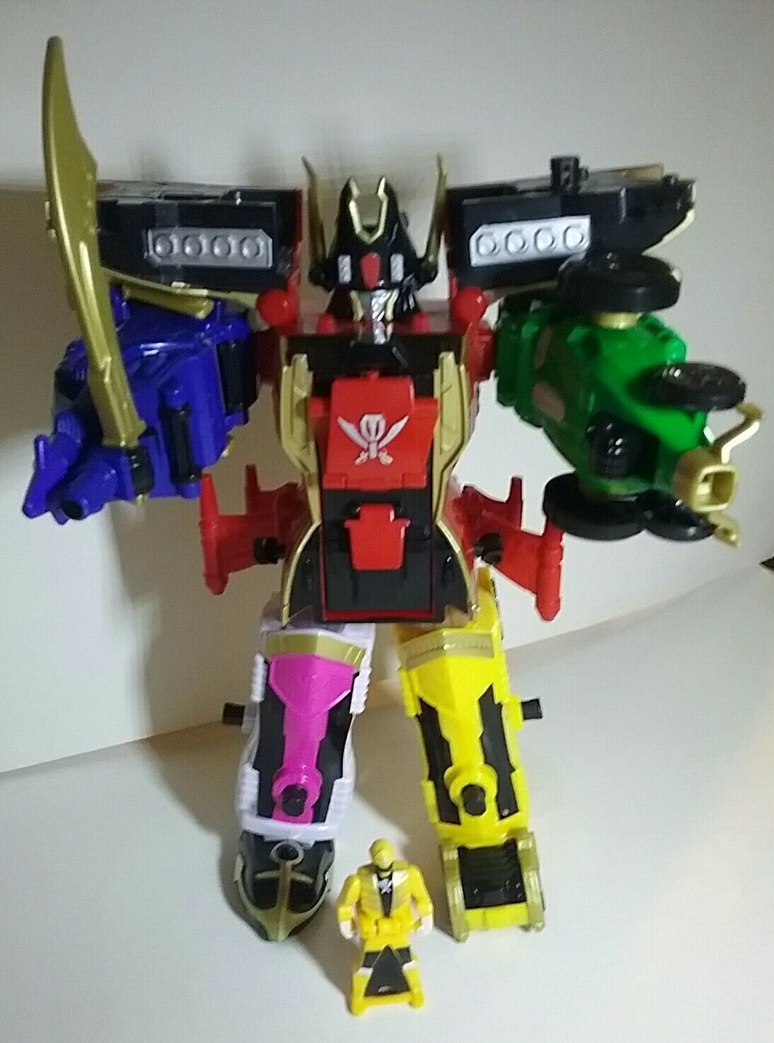 POWER RANGERS SUPER MEGAFORCE LEGENDARY MEGAZORD ZORD BUILDER W/ Gelb KEY