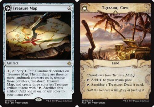 4x Treasure Map //// Treasure Cove NM-Mint English Ixalan MTG Magic