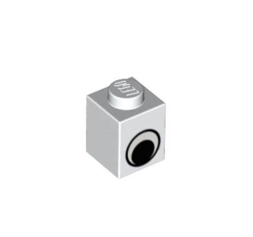 Lego 10x Eye 1x1 Blanc Brique-Pièce No 3005pe1