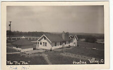 """RPPC - Hunting Valley, OH - """"The Pig Pen"""" - Ranch/Farm Scene - 1940s"""