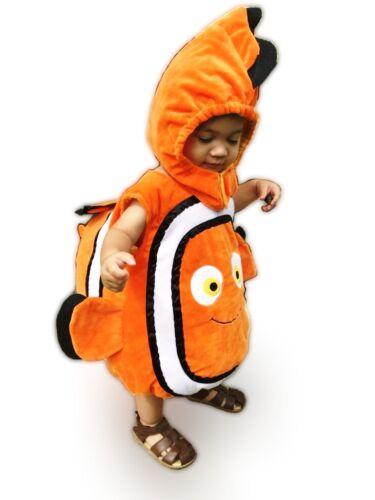 Nemo Poisson Clown Costume Chapeau + corps GUISE message me la Taille que vous voulez XS-M
